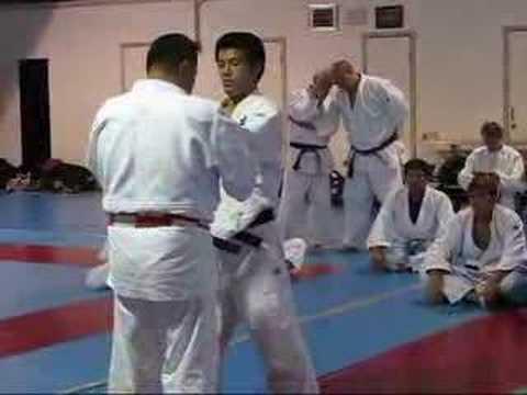 Yamashita Shows his Ouchi Gari Kazushi